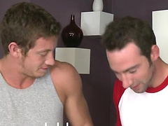 Hayden and Jayden sucking off cock