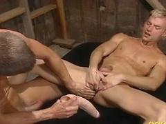 Wolfe shoves his huge cock up Price\\\\\\\'s ass, fucking him hard.