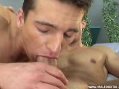 Two sexy dudes loves fucking and sucking around the pool 