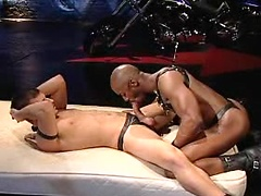Hot stud gets fucked by big black guy
