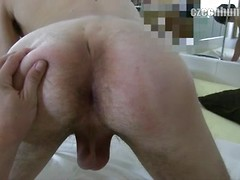 Czech hunter 113. Czech boy sucking off massive cock and spread his butt cheeks