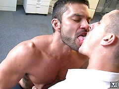 Jerking on the Job - MOUK - Men of UK - Jay Roberts & Rogan Richards