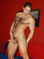 Rugged beefy man Peter Jonson jerking off dick by ManAvenue image #7