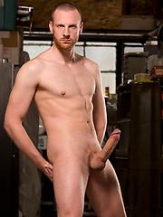 Tim Kruger shows his rock hard cock by Hot House Backroom image #5