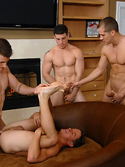 Brandon Lewis, Wade Holder, Tucker Vaughn and Ryan F gay orgy by Nextdoor Buddies image #7