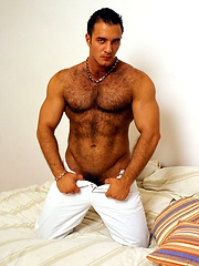 This furry bodybuilder has a big cock that he wants us to see by Mark Wolff image #6