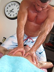 Gay dude gets a massage with a happy ending by Massage Bait image #8