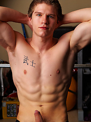 Hot muscle jock posing naked in a gym by Corbin Fisher image #6