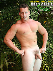 Denis Mello posing naked outdoors by Brazilian Studz image #8