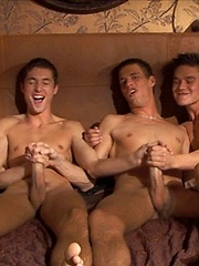 Jack Harrer, Dario Dolce, Gaelan Binoche and Marco Bill in a foursome by BelAmi Online image #5