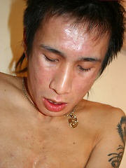 Japanese boy with big cock stroking it by Japan Boyz image #5