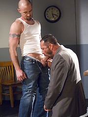 Shane Rollins and Ty Hudson - cum eating by Hot House Backroom image #9