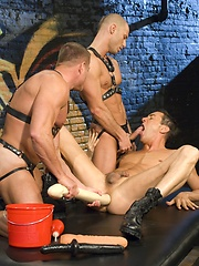 Danny Fox, Evan Matthews and Tyler Saint fucking and ass fisting by Club Inferno image #8