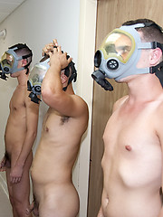 Gas masks and young man ass by HazeHim image #4
