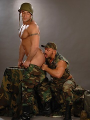 Muscled soldiers Samuel Colt and Spencer Reed fucking by Colt Studio image #9