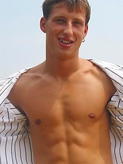 Cute jock shows his sexy ripped body outdoors by Czech Boys image #6