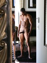 Ebony jock Ty naked by Frat Men image #6