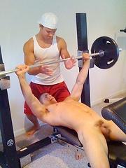 Hot nice jock posing by Frat Men image #5