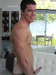 Hot muscle stud Tristan shows his cock by Frat Men image #6
