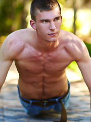Cute college boy Bryan shows cock by Corbin Fisher image #5