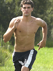 Sporty jock shows his perfect body by Corbin Fisher image #6