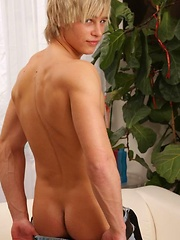 Blond beautiful boy shows cock by Czech Boys image #6