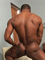 Ebony jock Landon shows his perfect abs and hard cock by SeanCody image #7