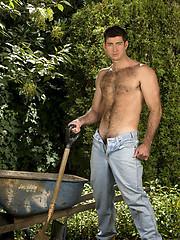 Berke Banks posing naked outdoors by Colt Studio image #6
