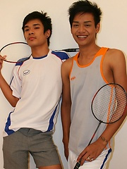 Three Thai Gay Boys in The Badminton Big Cock by BoyKakke image #6