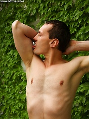 Gorgeous Tim Sitwell busts a nut outdoors. by BF Collection image #6