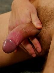Fresh faced twink Alvaro Rivers strokes his uncut cock. by BF Collection image #5