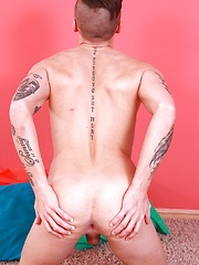 Tattooed stud Dom Ully gets hard and spreads his asshole. by BF Collection image #6