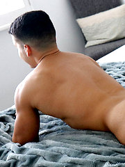 Handsome HUNK Damian Romano Jerks His Giant COCK by Gayhoopla image #6