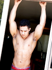 Young Bodybuilder Chris Fields Shows Off and CUMS by Gayhoopla image #8