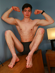 Tall and Lean Straight Pup Toni Shows us his Rock Hard Uncut Cock! by English Lads image #7