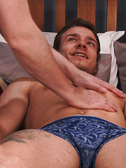 Straight Young Muscle Stud Lewis gets his 1st Manhandling and Squirts Loads of Cum! by English Lads image #8