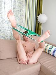 Gorgeous twink boy enjoys a dildo in his snug hole by Doggy Boys image #7