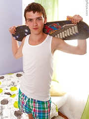Skater boy wanking after training by Doggy Boys image #5