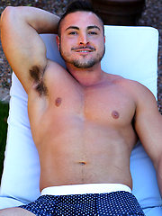 Thick Muscle Jock George Gomez Strokes His Cock by Gayhoopla image #8
