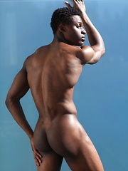 Jay black athletic hunk summer shoot by Male Model image #9