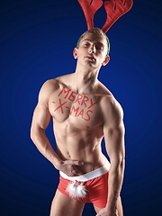 Ingo blond athletic christmas twink by Male Model image #6