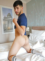 My cute straight mate Ralf Popu jacking off by Bentley Race image #5