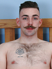 Straight Young & Hairy Rugby Player Miles Wanks his Big Uncut Cock & Squirts for England! by English Lads image #8