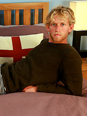 Athletic Blond Surfer Sam Shows his Hairy Body & Big Uncut Cock! by English Lads image #9