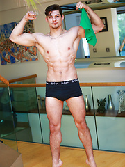 Straight Young Personal Trainer Cristian Shows off his Great Physique & Long Uncut Cock! by English Lads image #7