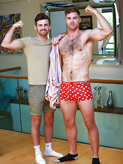 Hairy Hunks Tom & Ryan Wank Each Other & Tom Cum's Two Loads of Cum! by English Lads image #9