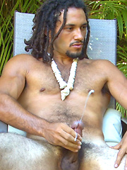 Keoki - Ripped Furry Hawaiian\\\'s EXPLOSIVE Eruption of Cum! by Island Studs image #9