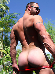 Hung Italian porn star Fabio gets naked outdoors for Ben by Bentley Race image #7