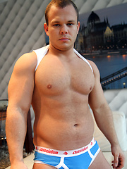Hung Muscle Cub - Dennis Conerman stripped down for Ben by Bentley Race image #5