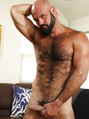 Hairy muscle man Marco Rios shows his perfect body and hairy ass by Pantheon Bear image #7